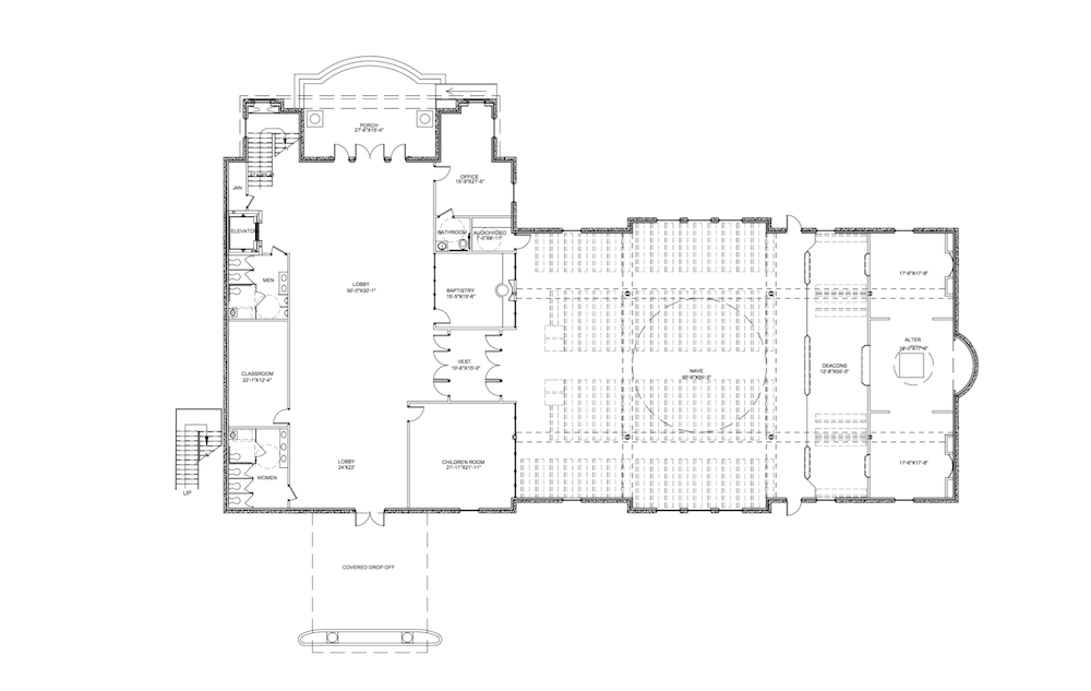 New church for Floor plan church